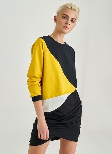 Renk Bloklu Sweatshirt-People By Fabrika